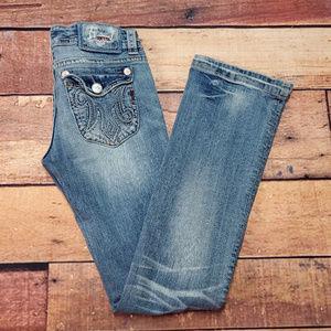 MEK DNM Woodstock Jeans Bootcut Size 27 / 34 Light